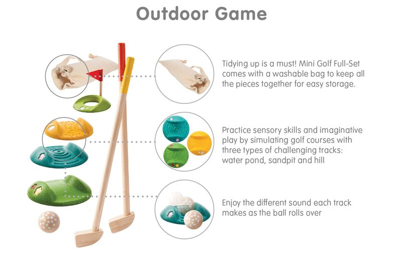 PlanToys Mini Golf Game