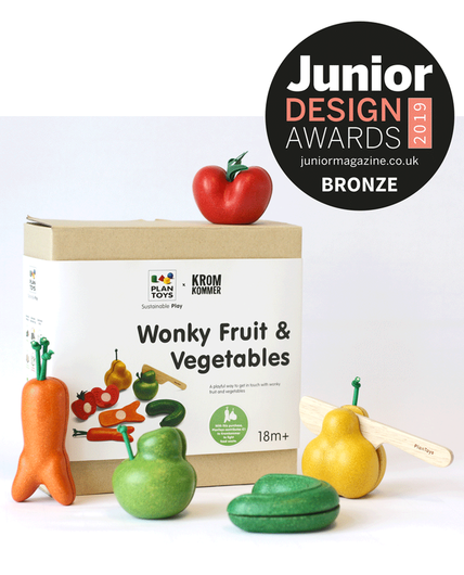PlanToys Wonky Fruit and Vegetable Playset Wins at Junior Design Awards 2019